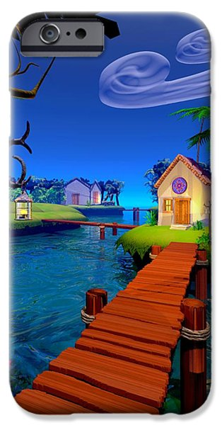 Lagoon iPhone Case by Cynthia Decker