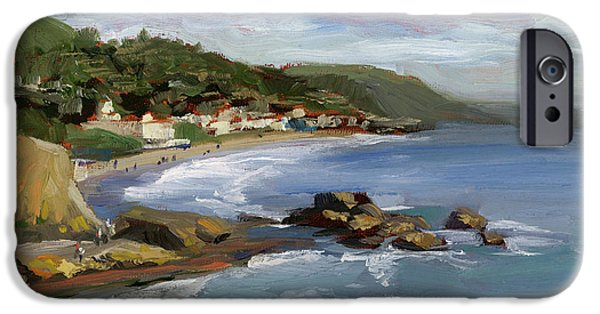 Cliffs iPhone Cases - Laguna Beach iPhone Case by Alice Leggett