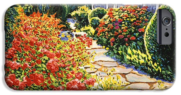 Pathway iPhone Cases - Laguna Beach House Garden iPhone Case by David Lloyd Glover