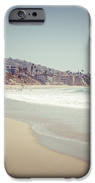 Laguna Beach Retro Picture iPhone Case by Paul Velgos