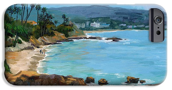 Ocean Scenes iPhone Cases - Laguna Beach Winter iPhone Case by Alice Leggett