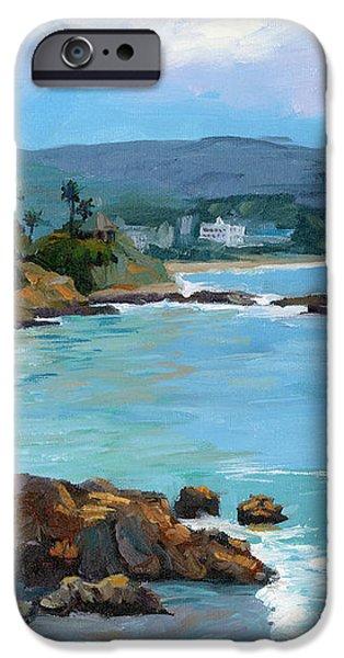 Laguna Beach Winter iPhone Case by Alice Leggett