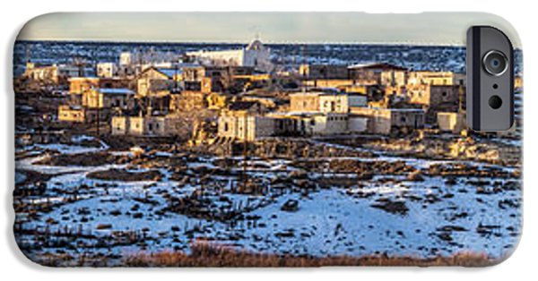 Recently Sold -  - Village iPhone Cases - Winter Afternoon Laguna Pueblo iPhone Case by Duane Miller