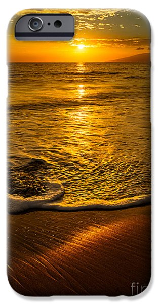 Ocean Sunset iPhone Cases - Lahaina Glow iPhone Case by Jamie Pham
