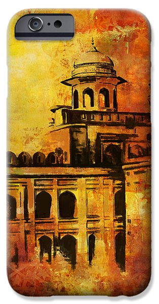 Pakistan iPhone Cases - Lahore Fort iPhone Case by Catf