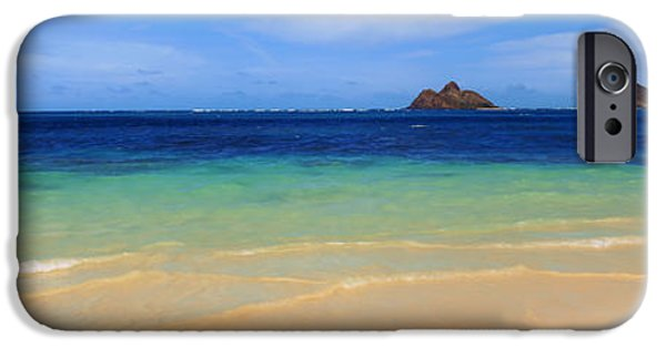 Banzai iPhone Cases - Lainki Beach, Oahu, Hawaii, Usa iPhone Case by Panoramic Images