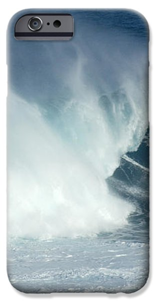 Laird Hamilton Going Left At Jaws iPhone Case by Bob Christopher