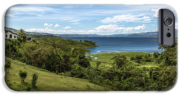 Water Photographs iPhone Cases - Lake Arenal View in Costa Rica iPhone Case by Andres Leon