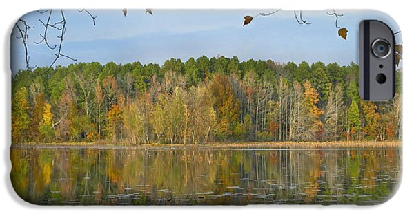 Arkansas iPhone Cases - Lake Bailey Petit Jean State Park iPhone Case by Tim Fitzharris