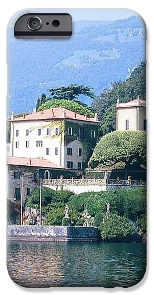 Lake Como Palace iPhone Case by Greta Corens