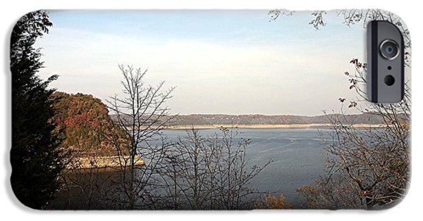 Hills Tapestries - Textiles iPhone Cases - Lake Cumberland -  Kentucky iPhone Case by Thia Stover