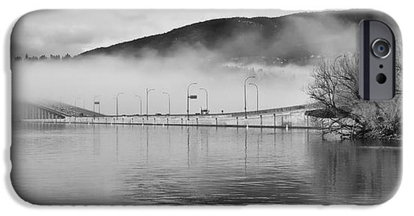 Monotone iPhone Cases - Lake Effect Fog iPhone Case by Allan Van Gasbeck