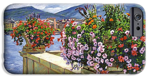 Switzerland Paintings iPhone Cases - Lake Geneva Beauty iPhone Case by David Lloyd Glover