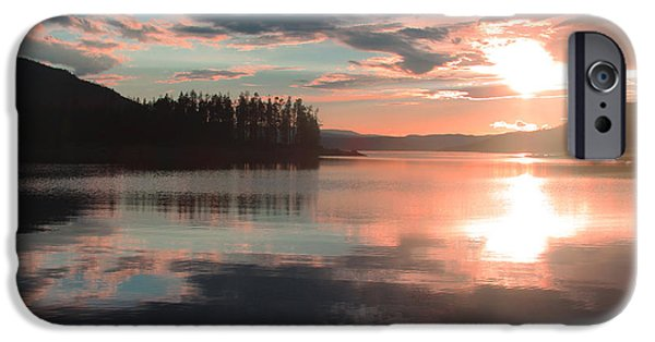 Willow Lake iPhone Cases - Lake Granby Sunset iPhone Case by Chris Thomas