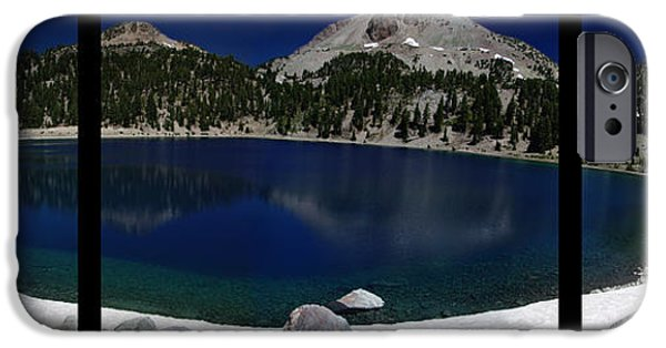 Poetic iPhone Cases - Lake Helen at Mt Lassen Triptych iPhone Case by Peter Piatt