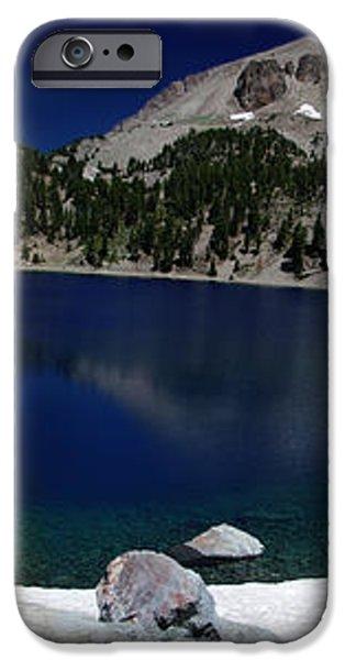 Lake Helen at Mt Lassen Triptych iPhone Case by Peter Piatt