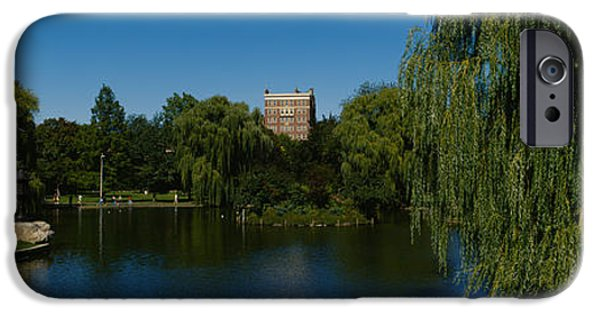 Getting Away From It All iPhone Cases - Lake In A Formal Garden, Boston Public iPhone Case by Panoramic Images