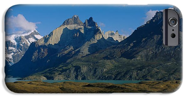 Mountain iPhone Cases - Lake In Front Of Mountains, Jagged iPhone Case by Panoramic Images