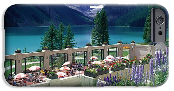 Al Fresco iPhone Cases - Lake Louise, Alberta, Canada iPhone Case by Panoramic Images