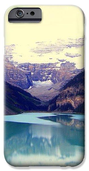 Lake Louise Stillness iPhone Case by KAREN WILES