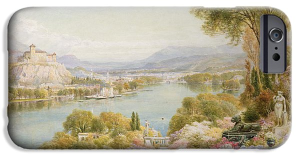 Swiss Paintings iPhone Cases - Lake Maggiore iPhone Case by Ebenezer Wake-Cook