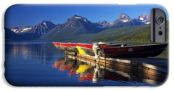 Peacefull iPhone Cases - Lake McDonald Morning iPhone Case by Mark Kiver
