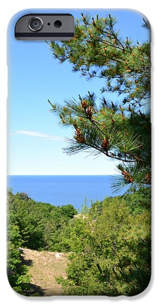 Lake Michigan from the Top of the Dune iPhone Case by Michelle Calkins