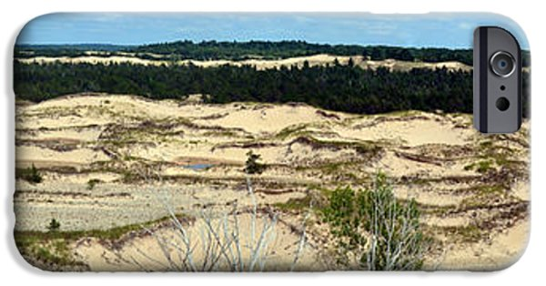 Michelle iPhone Cases - Lake Michigan Hills and Dunes iPhone Case by Michelle Calkins