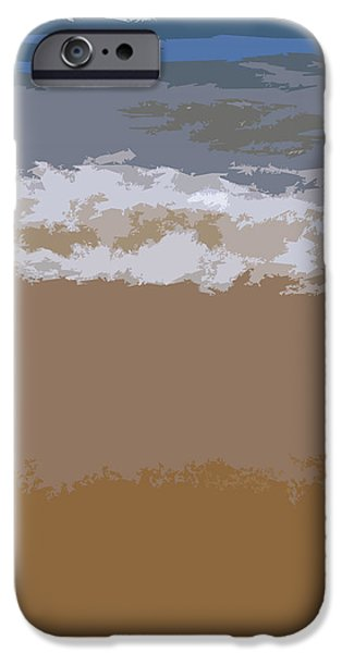 Coastline Digital Art iPhone Cases - Lake Michigan Shoreline iPhone Case by Michelle Calkins