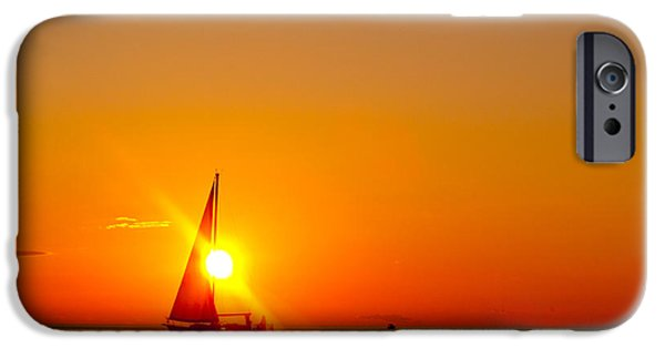 Chicago iPhone Cases - Lake Michigan Sunset iPhone Case by Bill Gallagher