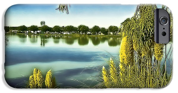 Fed iPhone Cases - Lake Mindon Campground California iPhone Case by  Bob and Nadine Johnston