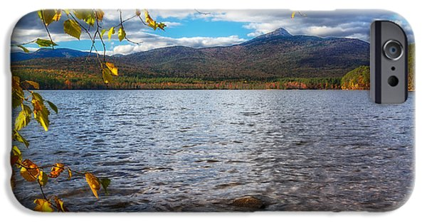 Mt Chocorua iPhone Cases - Lake-Mt.Chocorua NH iPhone Case by Michael Hubley