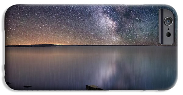 Stars iPhone Cases - Lake Oahe iPhone Case by Aaron J Groen