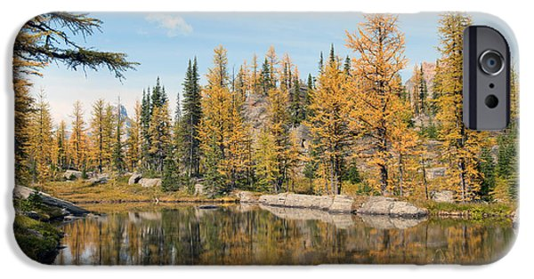 Rocly iPhone Cases - Lake OHara Alberta Canada iPhone Case by Heather Simonds
