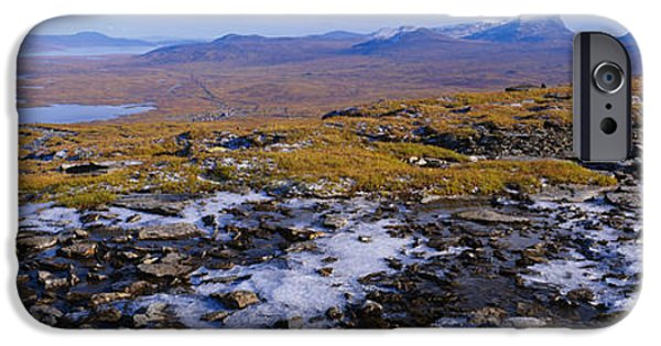 Lapland iPhone Cases - Lake On A Landscape, Njulla, Lake iPhone Case by Panoramic Images