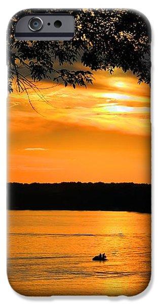 Lake Panarama sunset iPhone Case by Bob Hislop