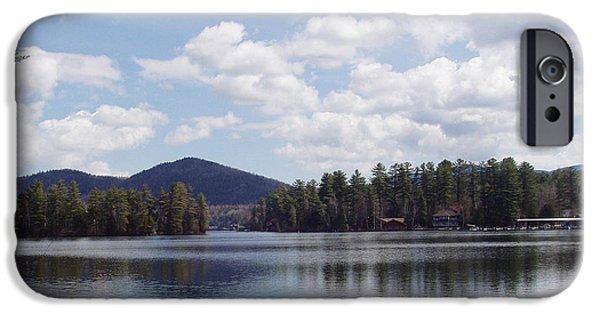 Tree Art Print iPhone Cases - Lake Placid iPhone Case by John Telfer