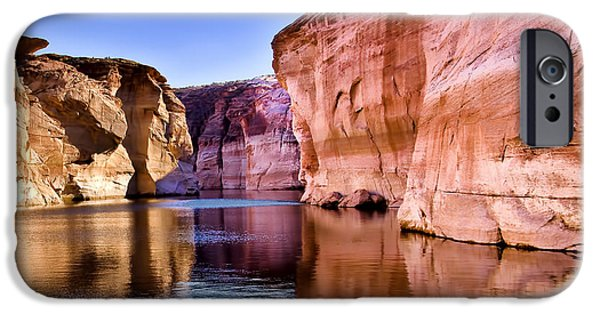 Lake Powell iPhone Cases - Lake Powell Antelope Canyon iPhone Case by Jon Berghoff