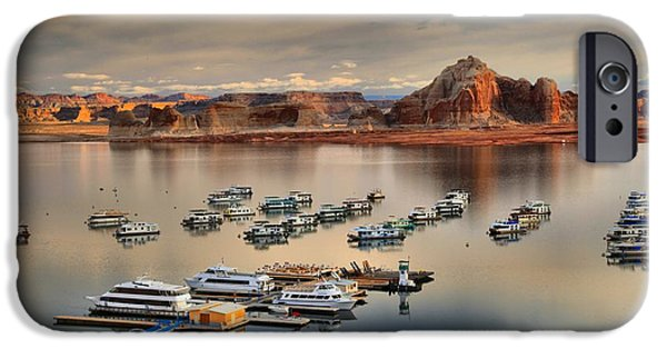 Wahweap iPhone Cases - Lake Powell Reflections iPhone Case by Adam Jewell