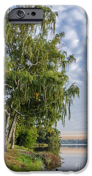 Willow Lake iPhone Cases - Lake Quannapowitt in Massachusetts  iPhone Case by Pat Lucas