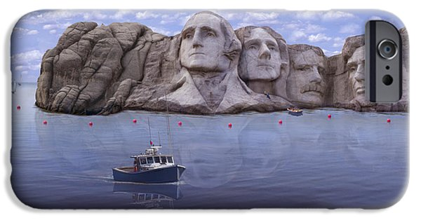 Lincoln iPhone Cases - Lake Rushmore iPhone Case by Mike McGlothlen