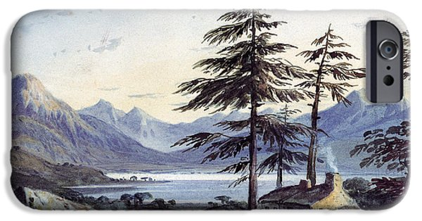 Pines iPhone Cases - Lake Scene Wc iPhone Case by John Varley