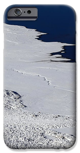 Shape iPhone Cases - Lake Shore in Winter 1 iPhone Case by James Brunker