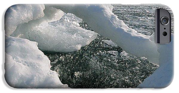 Sandra Updyke iPhone Cases - Lake Superior Ice Arch iPhone Case by Sandra Updyke