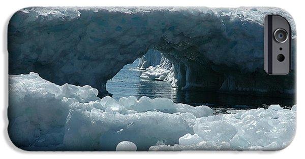 Sandra Updyke iPhone Cases - Lake Superior Ice Bridge iPhone Case by Sandra Updyke