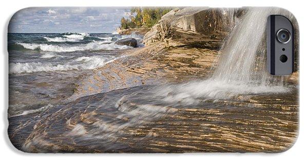 Recently Sold -  - Chicago iPhone Cases - Lake Superior In Picture Rocks Np iPhone Case by Bill Coster