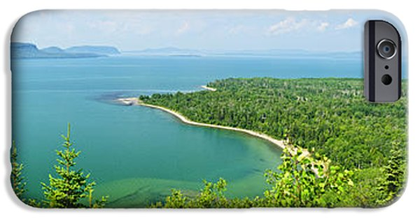 Great Lakes iPhone Cases - Lake Superior panorama iPhone Case by Elena Elisseeva