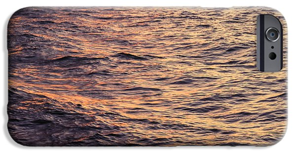 Nature Abstract iPhone Cases - Lake Superior Sunset iPhone Case by Bethany Helzer