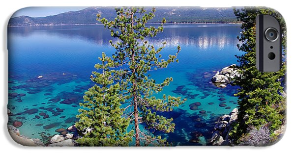 Snow-covered Landscape Photographs iPhone Cases - Lake Tahoe Beauty iPhone Case by Scott McGuire