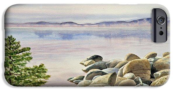 Lake Tahoe iPhone Cases - Lake Tahoe iPhone Case by Irina Sztukowski